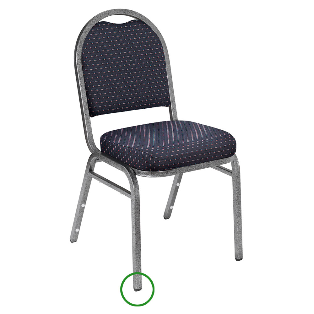 National Public Seating GL92 Stacking Chair Floor Glide
