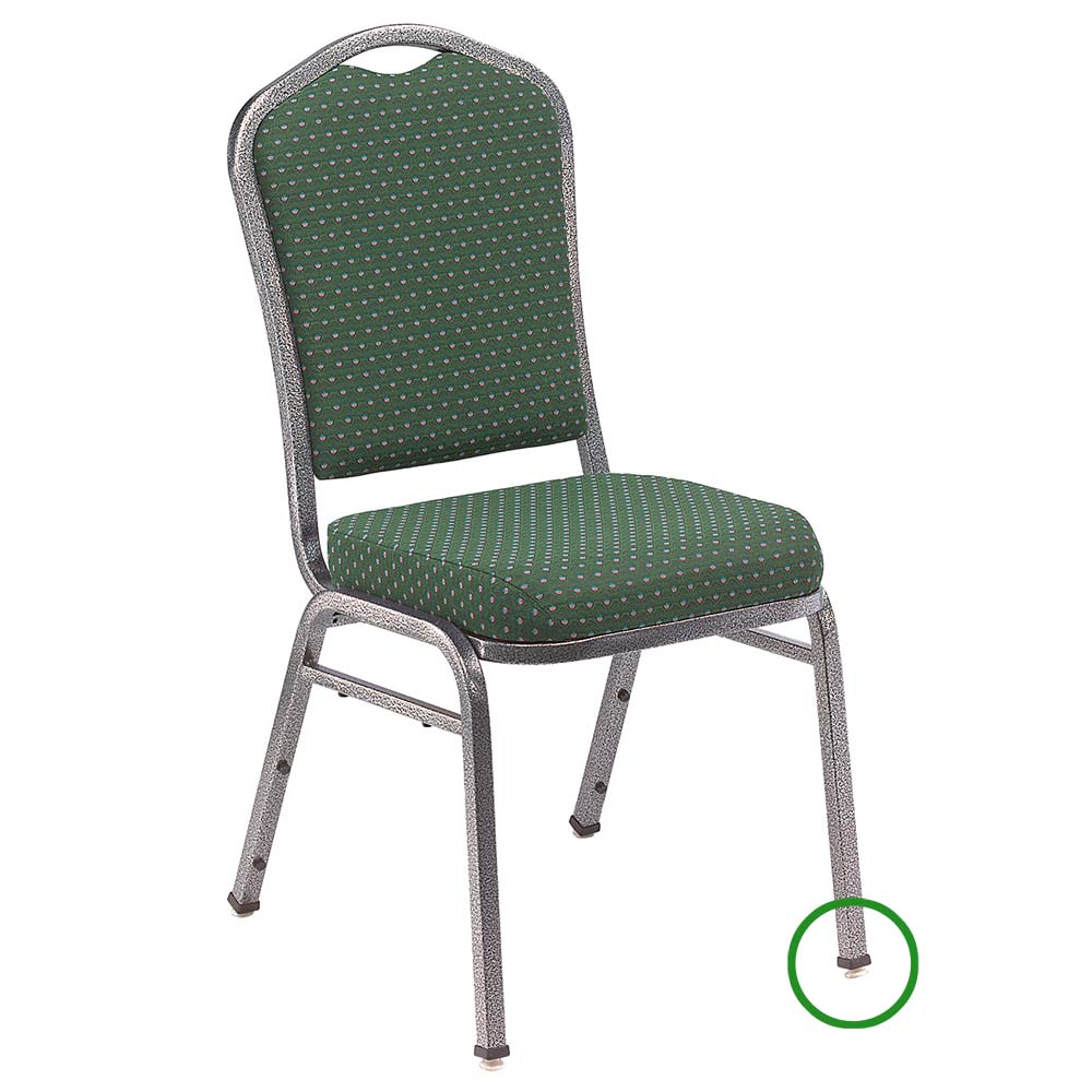National Public Seating GL93 Stacking Chair Floor Glide