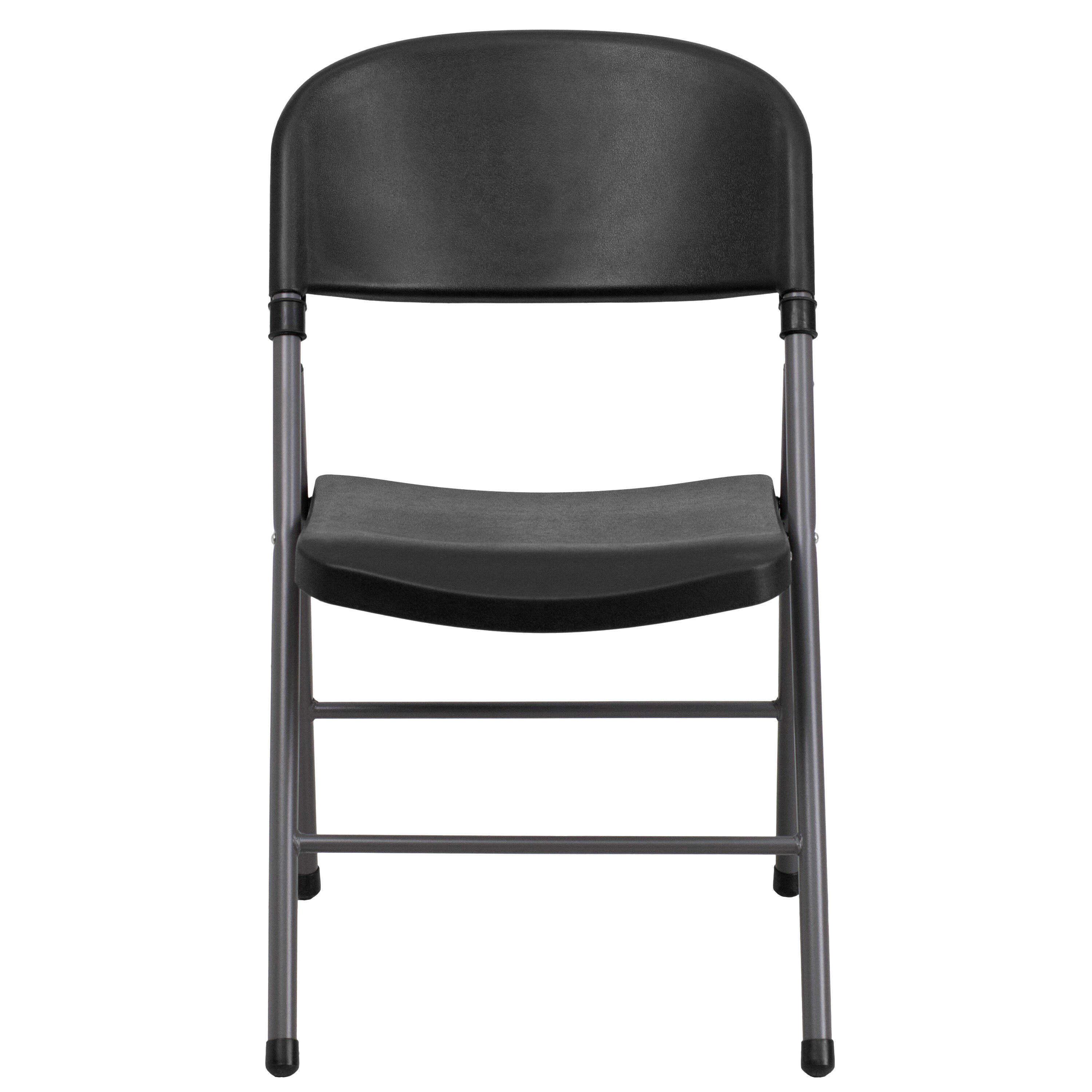 folding chair dolly 50 capacity toddler rocking chairs black plastic dad ycd gg