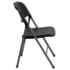 Folding Chair Dolly 50 Capacity Desk With Arms Black Plastic Dad Ycd Gg