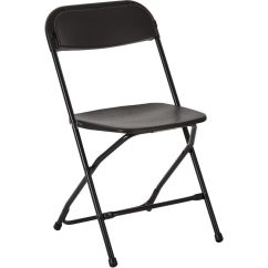 Folding Chairs For Less Dining Chair Covers Homesense Work Smart Plastic Set Of 4 Black