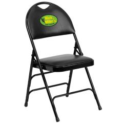 Folding Chair Embroidered Childrens Wicker Chairs Uk Emb Padded Ha Mc705a 3 Foldingchairs4less Com Images