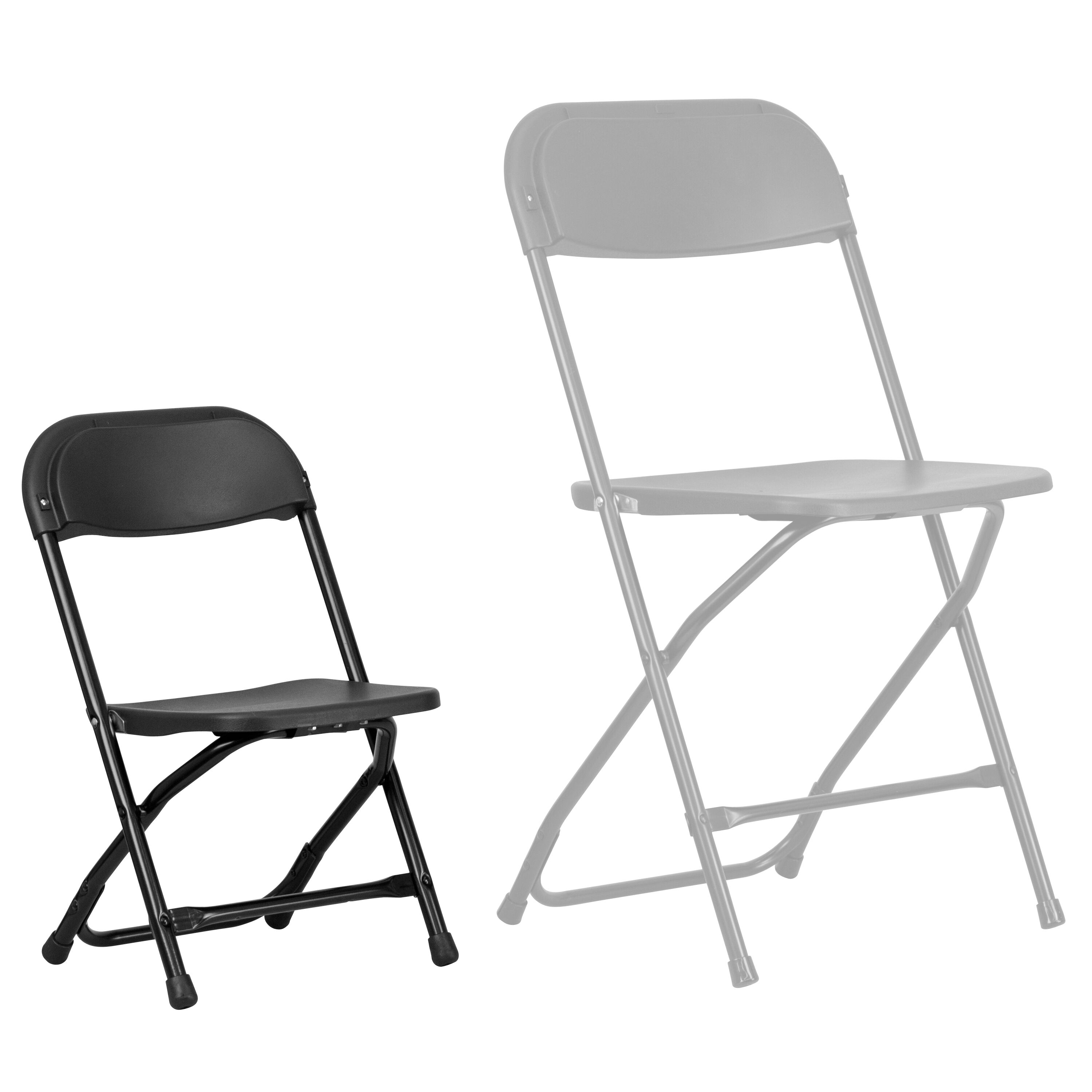 plastic kid chairs sure fit dining chair covers nz kids black folding y bk gg foldingchairs4less