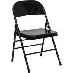 Double Seat Folding Chair Wooden Rocking Chairs Nursery Black Metal Hf3 Mc 309as Bk Gg Foldingchairs4less Com