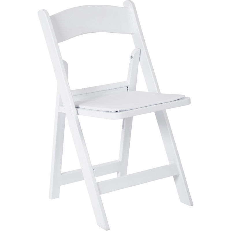 white folding chair la z boy office warranty foldingchairs4less resin chairs work smart wedding with frame and padded seat set of 4