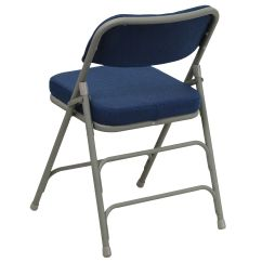 Folding Fabric Chairs Two Person Chair Carry Navy Ha Mc320af Nvy Gg