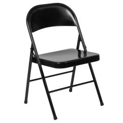Hercules Folding Chair Butterfly Cover Black Metal Bd F002 Bk Gg