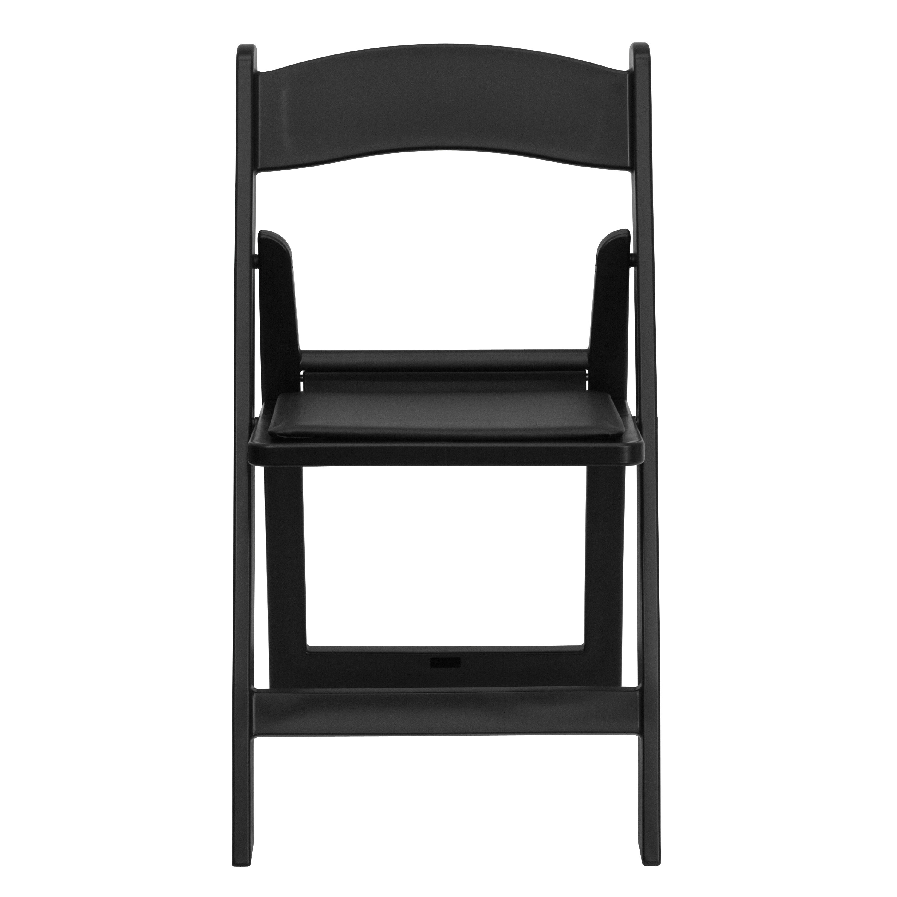 folding chair vinyl padded black suede dining room chairs flash furniture hercules series 1000 lb capacity