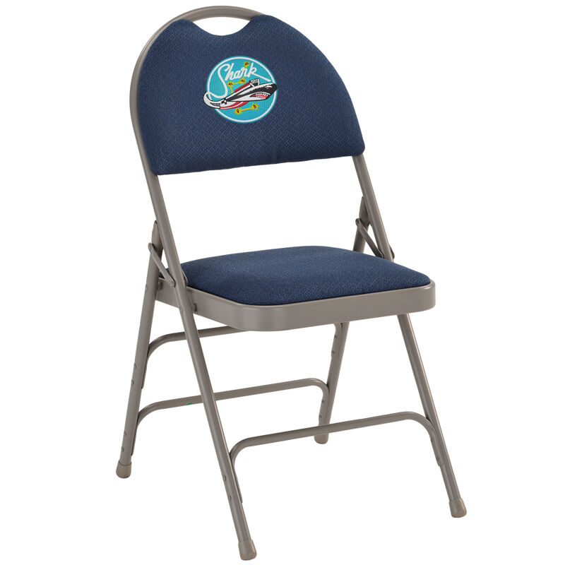 folding chair embroidered glass top counter height table and chairs navy fabric ha mc705af 3 nvy emb gg images