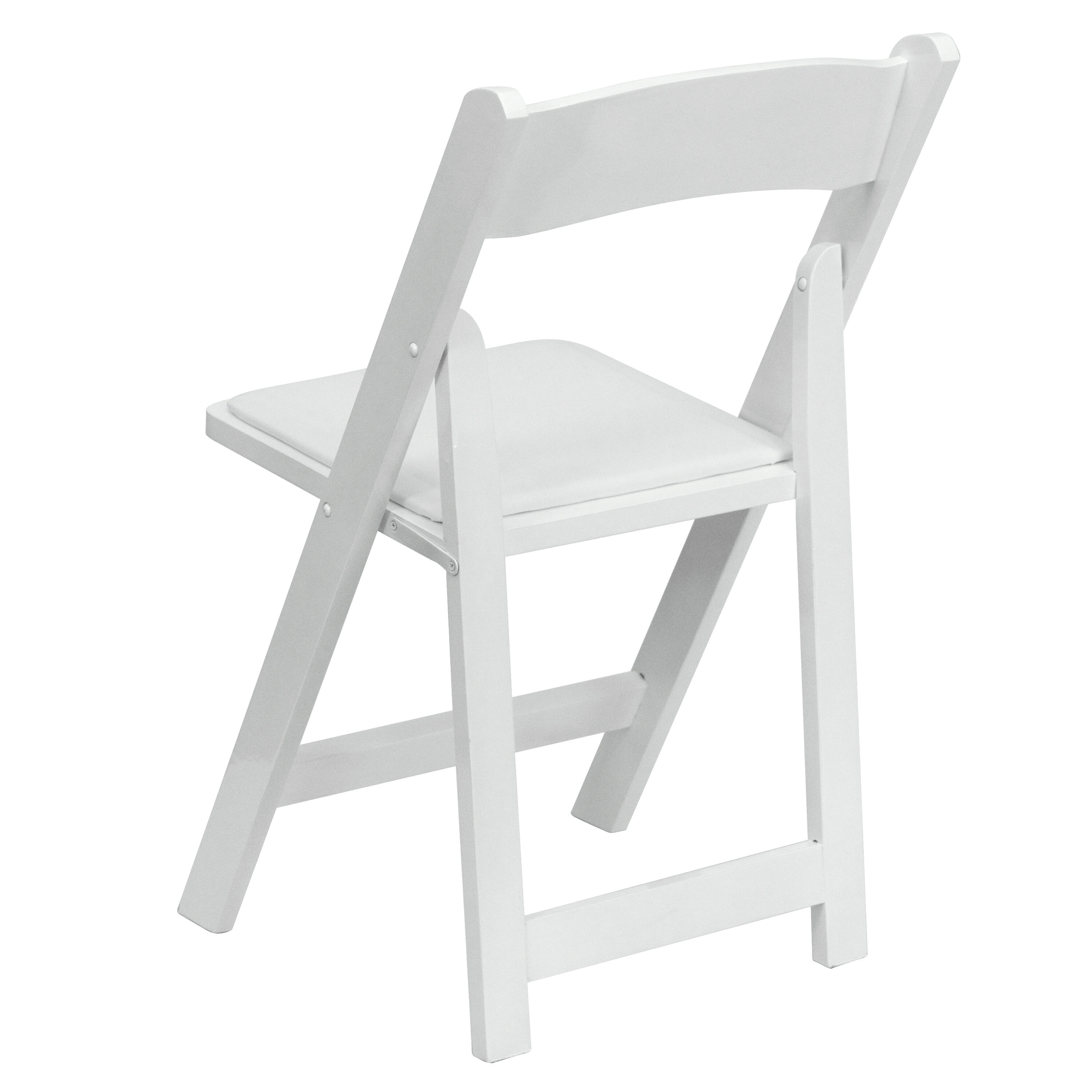 White Wood Folding Chair XF