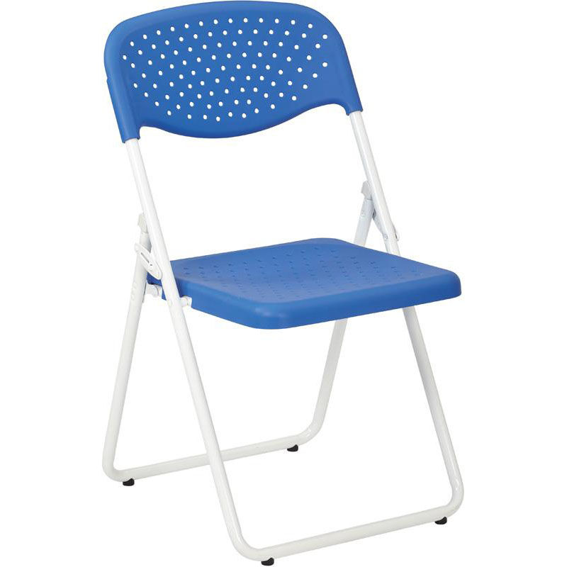 blue metal folding chairs rolling atlantic city boardwalk set of 4 work smart chair fc8000nw 7 foldingchairs4less com images our