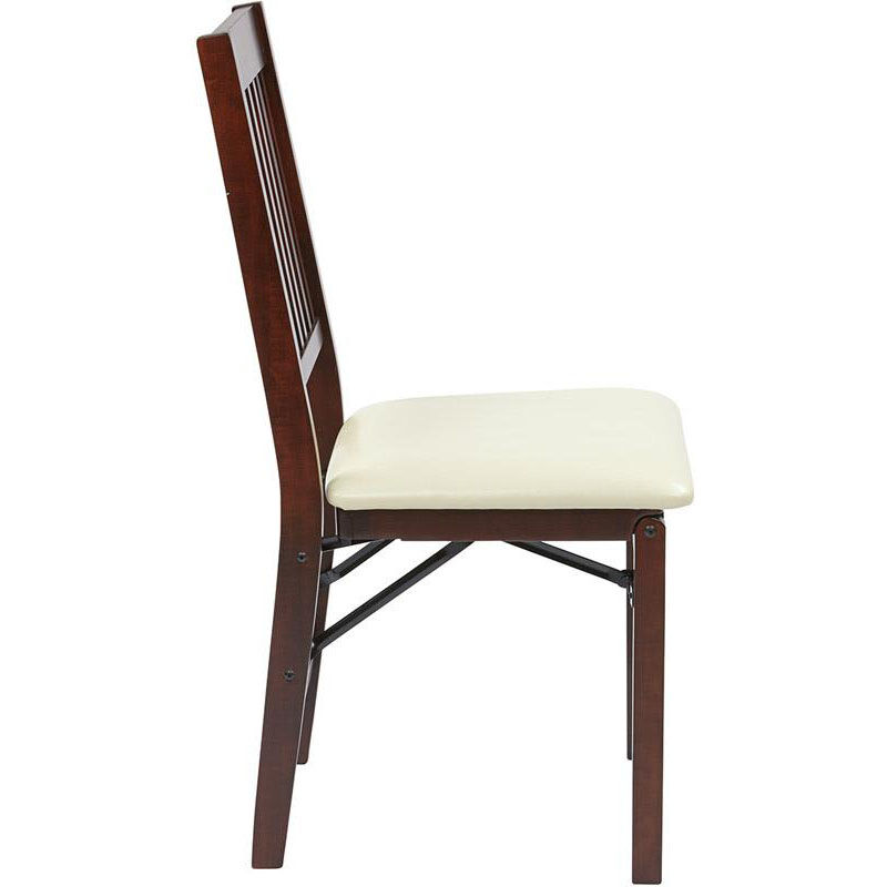 cream padded folding chairs recovering a chair seat set of 2 hacienda ha424 cm