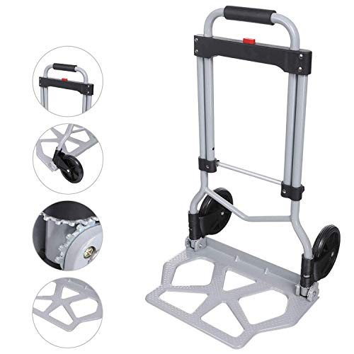 US Folding Portable Handcart Rolling Crate Heavy Duty Handle for Travel Shopping