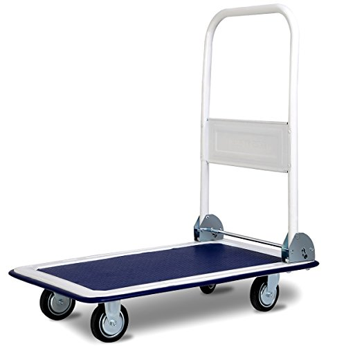 hand trolley soges Multi Purpose Hand Truck,Folding Trolley,dolly collapsible cart with PU Wheels,load capacity 150 kg,KT-2020