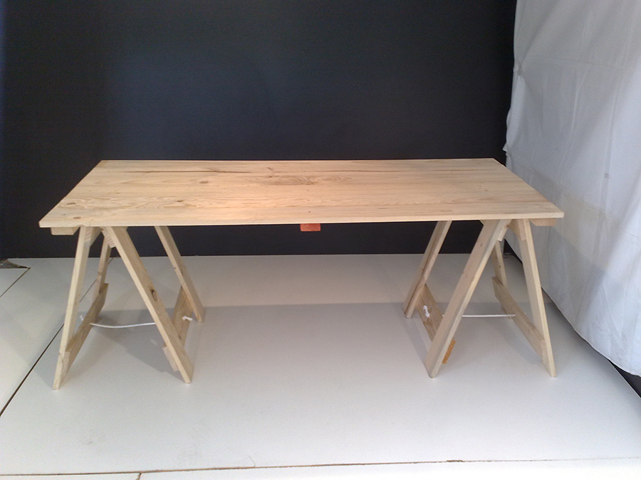 18m Old Style Trestle Table  FOLDING TABLES AND CHAIRS