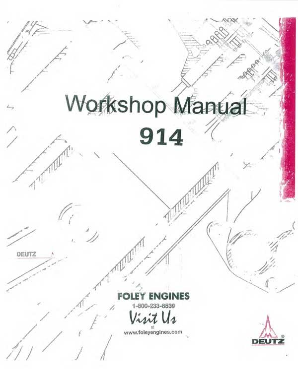 Deutz 914 Workshop Manual