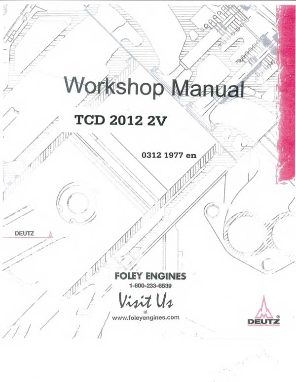 Deutz TCD 2012 2V Workshop Manual