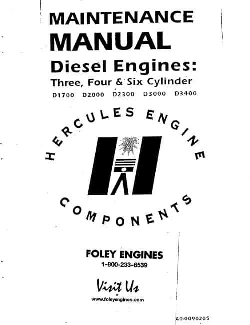Hercules D1700 / D2000 / D2300 / D3000 / D3400 Manual