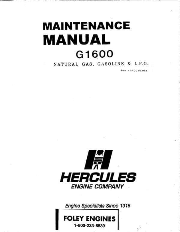 Hercules G1600 Manual