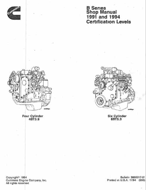 Cummins 4B6B Shop Manual