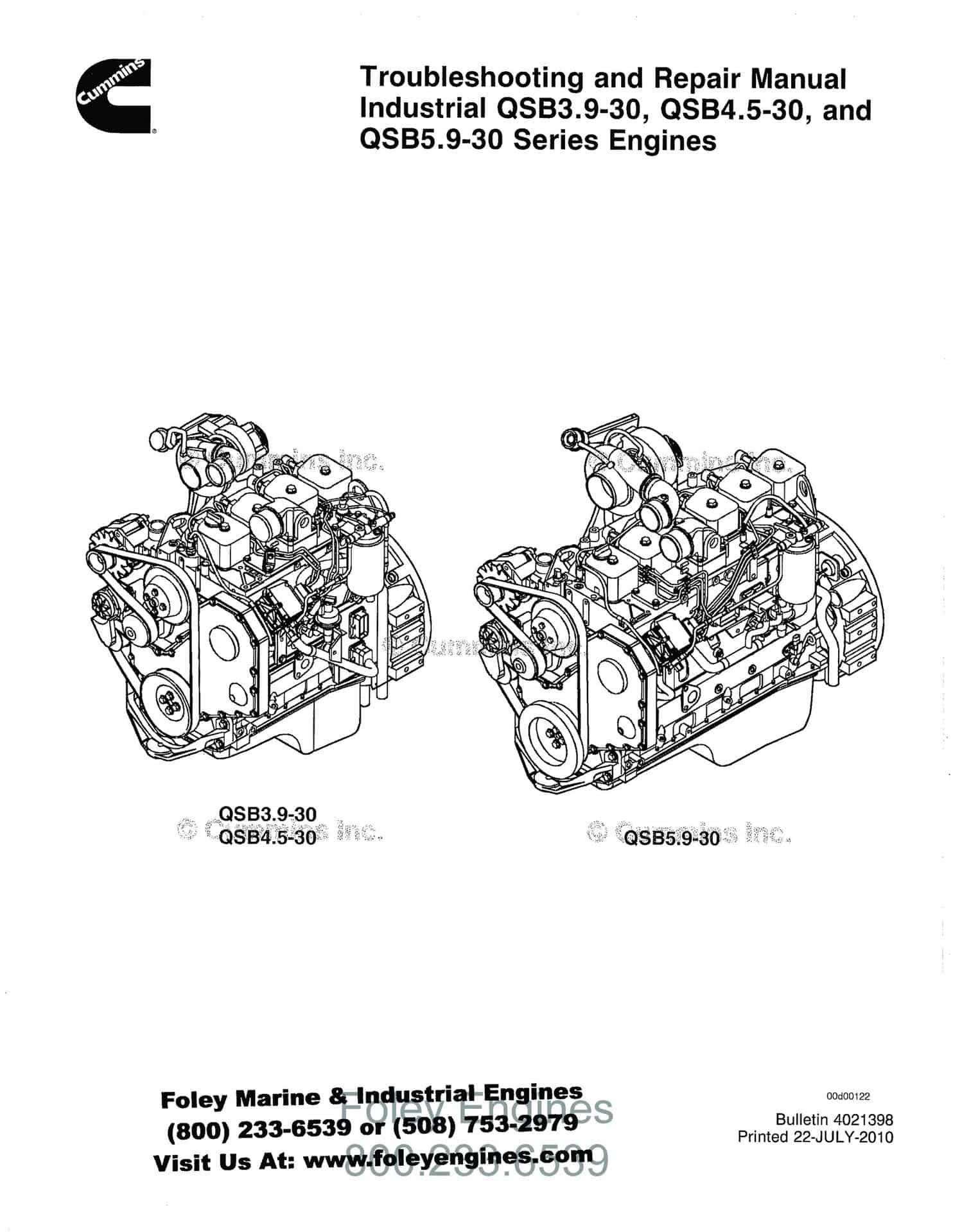 Cummins QSB3.9-30 / QSB4.5-30 / QSB5.9-30 Manual