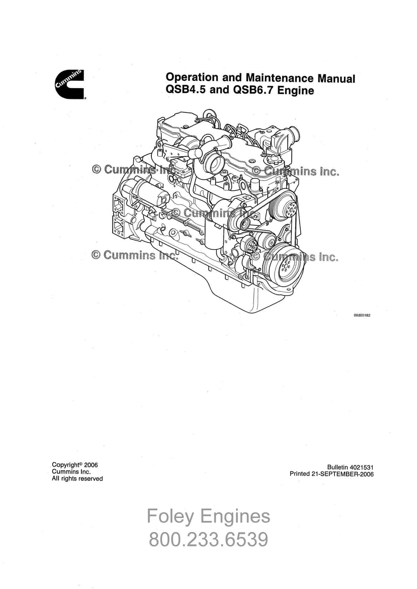 Cummins QSB4.5 / QSB6.7 Shop Manual
