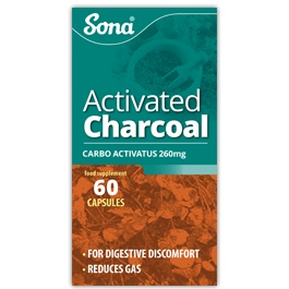 SONA ACTIVATED CHARCOAL TABLETS (60)