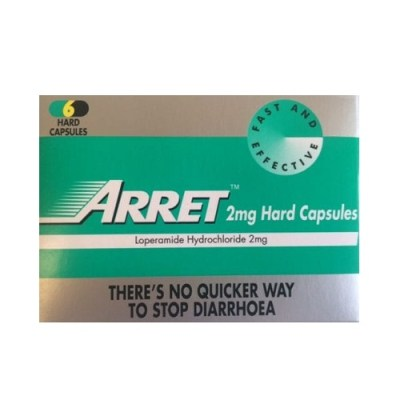 ARRET CAPSULES 2MG LOPERAMIDE (6)