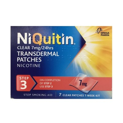 NIQUITIN CLEAR STEP 3 NICOTINE PATCH 7MG/HR (7)