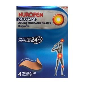 NUROFEN DURANCE PATCH 200MG IBUPROFEN (4)