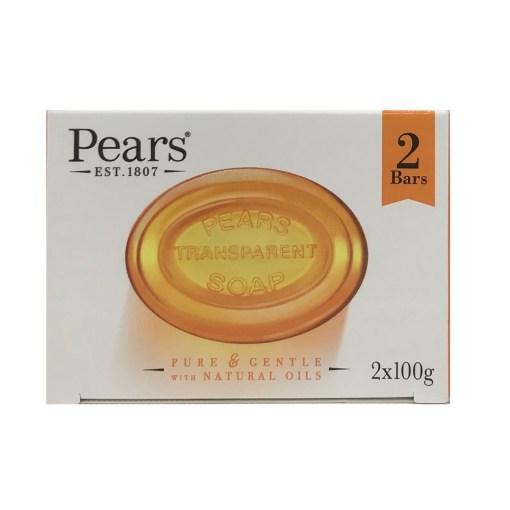 PEARS TRANSPARENT SOAP BAR (2 x 100G)