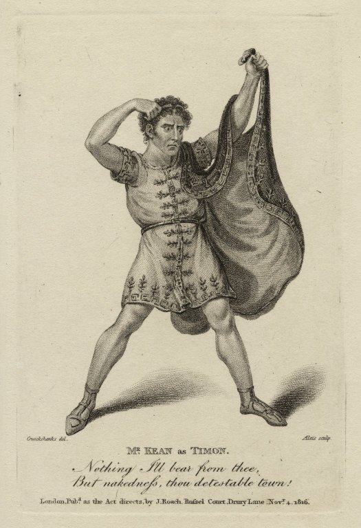 Thomas Kean as Timon -- 1816 (courtesy Folger Library)