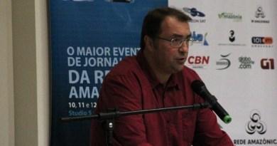 Carlos Eduardo Éboli foi o segundo a palestrar (Foto: Marcos Dantas/G1 AM)