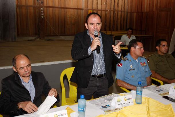 O delegado geral de Polícia Civil do Estado, Rilmar Firmino, também participou da cerimônia