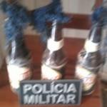 Coquetéis molotov -Apreendido pela PM (Foto RPIi)