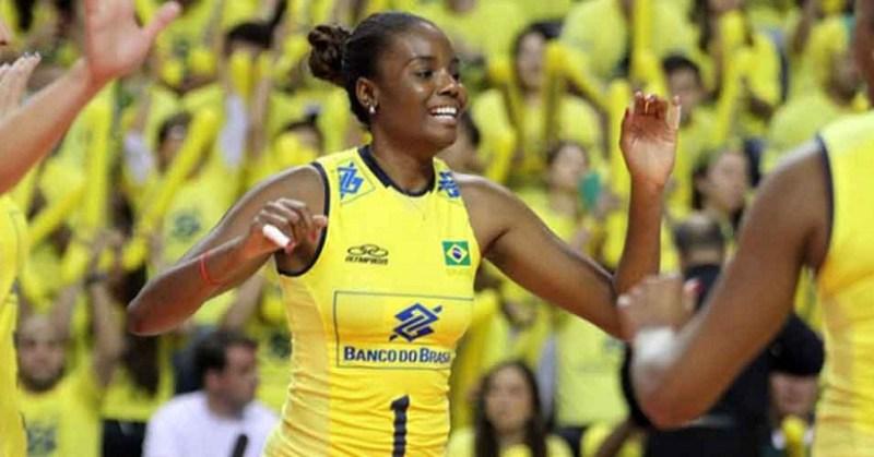 Fabiana será a primeira a percorrer com a tocha olímpica no Brasil. Foto: (Divulgação/FIVB)