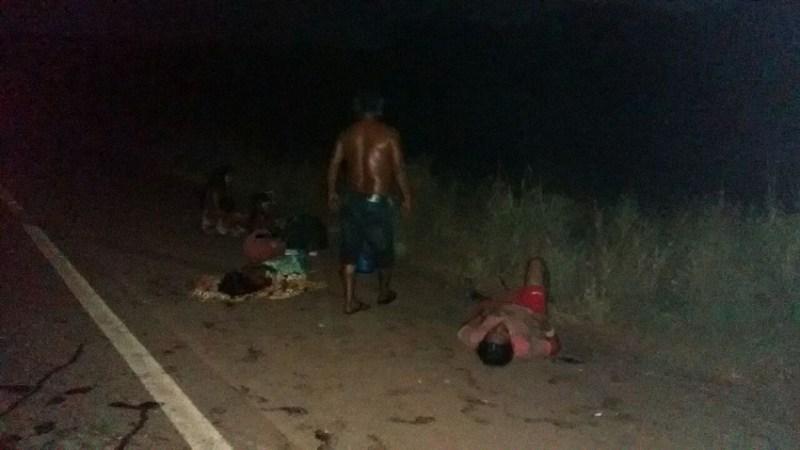 Indígenas Kaiapo envolvidos no acidente.