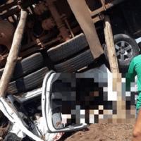 Acidente entre carro e caminhão mata bebê e mulher em Marabá