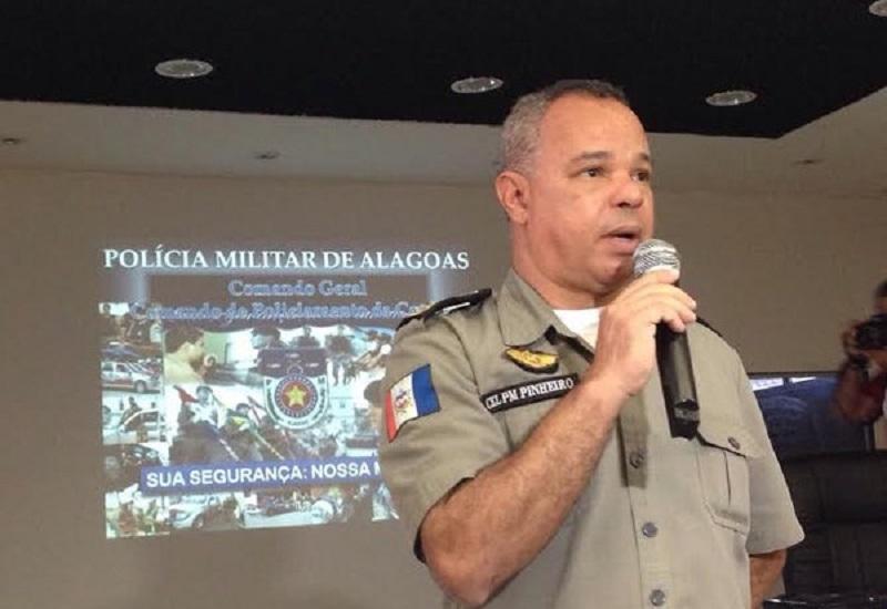 Coronel Marcus Aurélio Pinheiro foi afastado do comando-geral da PM de Alagoas em 2014 — Foto: Natália Souza/G1