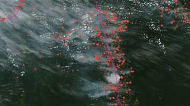 Em 'dia do fogo', sul do PA registra disparo no número de queimadas