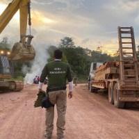 Fiscalização destrói garimpo ilegal na Transgarimpeira