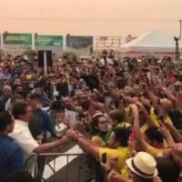 Nasa diz que fumaça que encobre cidade do Mato Grosso visitada por Bolsonaro é de Novo Progresso