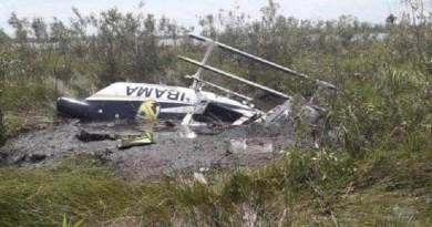 Helicóptero usado no combate a incêndios caiu no Pantanal — Foto: Ciopaer/Divulgação