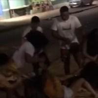 Moradores flagram briga noturna em via publica de Novo Progresso