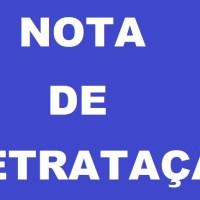 Nota de retratação pública - Jornal Folha do Progresso
