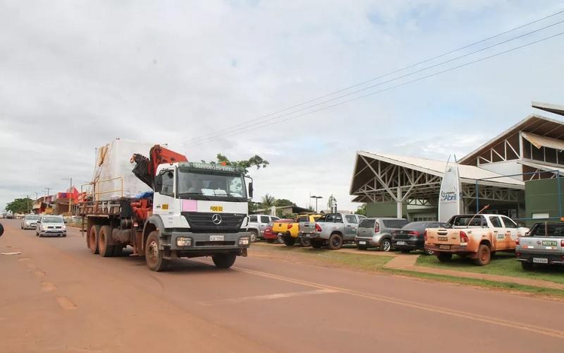 Usina chegou em Juruti neste sábado (20) Foto: Oslan Silva/Alcoa
