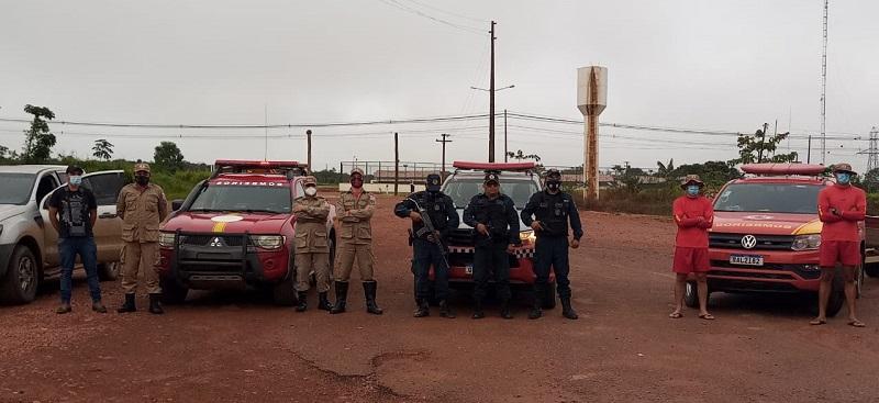 Bombeiros do Pará (Itaituba) do Mato Grosso (Colider) ,Policia Militar e Nardino Filho. (Foto:NP DRONES)