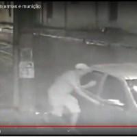 """54 pistolas e revolveres foram roubados na loja """"Panelão Caça & Pesca"""" em Novo Progresso- Assista ao vídeo."""