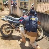 PRF apreende em Trairão, motocicleta roubada em Novo Progresso em 2018