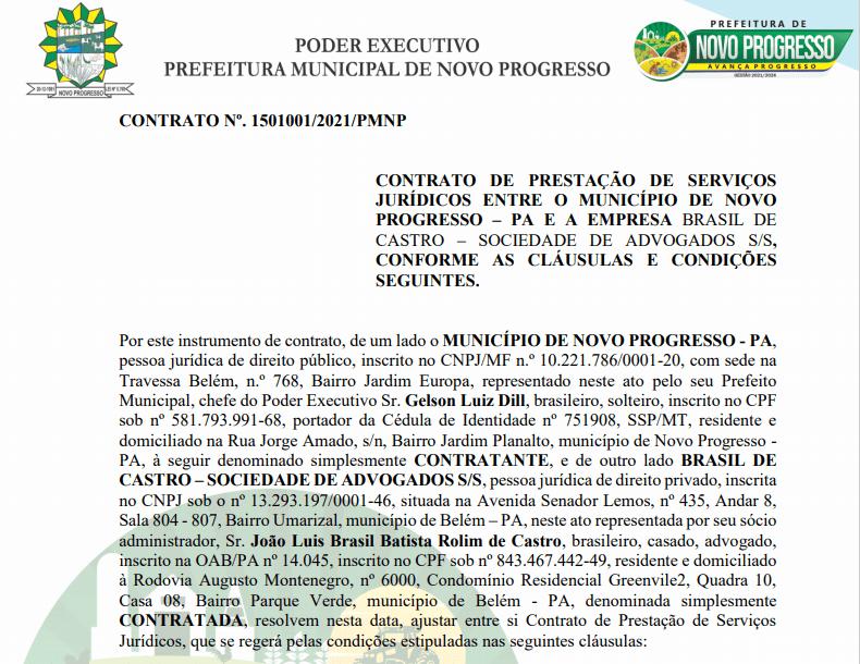 O extrato do contrato foi publicado no Diário Oficial dos Municípios. (Fonte:Portal da Transparência)